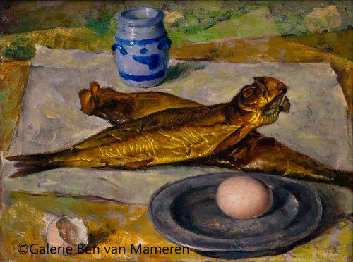 Makreel en ei / zelfportret