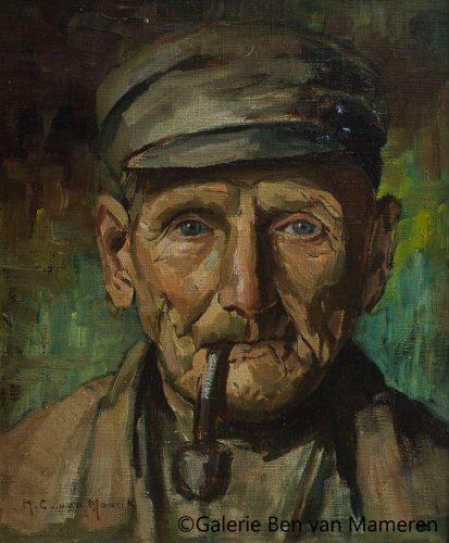 Portret Man met Pijp.