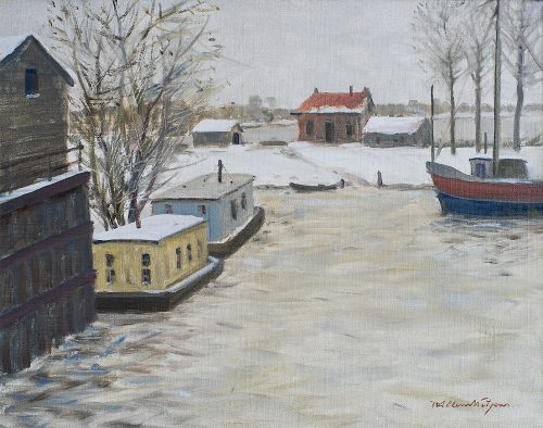 Haven van Tiel in de Winter.