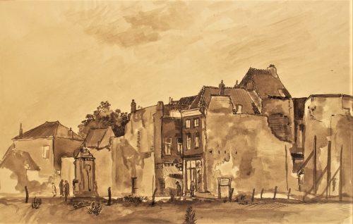 Groenmarkt Tiel 1945